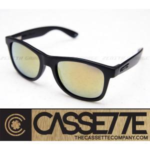 CASSETTE サングラス:O.G LX 405 [Matte Black/Gold Mirror Lens] 艶消しブラックフレーム|zenithgaragesurfplus