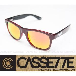 CASSETTE サングラス:O.G LX 502 [Wine&Red/Fire Mirror Lens] ワイン&レッドフレーム|zenithgaragesurfplus