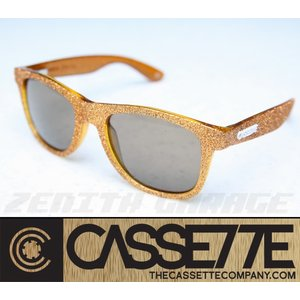 CASSETTE サングラス:O.G LX 601 [Orange Edge/Brown Lens] ゴールドラメフレーム|zenithgaragesurfplus
