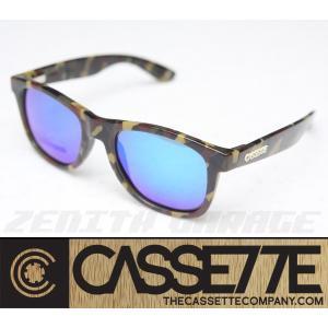 CASSETTE 偏光レンズ:O.G LX 604 [Camo Green/Blue Mirror Lens] カモフラ柄フレーム サングラス|zenithgaragesurfplus