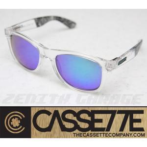 CASSETTE サングラス:O.G LX 606 [Clear End/Green Mirror Lens] クリアー系フレーム|zenithgaragesurfplus