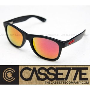 CASSETTE 偏光レンズ:O.G LX 702 [Matte Black/Fire Mirror Lens] 艶消しブラックフレーム サングラス|zenithgaragesurfplus