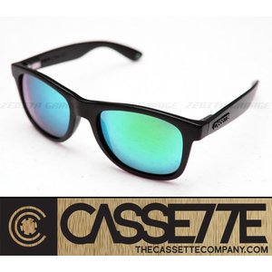 CASSETTE 偏光レンズ:O.G LX 703 [Matte Black/Green Mirror Lens] 艶消しブラックフレーム サングラス|zenithgaragesurfplus
