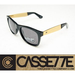 CASSETTE 偏光レンズ:O.G LX 804 [Black & Gold Metal : Gray Lens] ゴールドメタルアーム|zenithgaragesurfplus