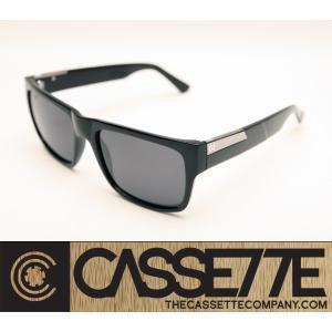 CASSETTE 偏光レンズ アセテートフレーム:STOCKHOLM 701 [Black : Gray Lens] 抜群のフィット感|zenithgaragesurfplus