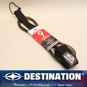 DESTINATION:ディスティネーション リーシュコード 9ftミディアムウェイプ 足首用/BEARロゴ アニバーサリーモデル|zenithgaragesurfplus
