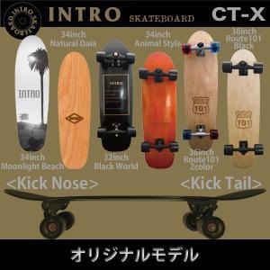 INTRO CT-X:サーフ系 カービングトラック装着スケートボード 32インチ 34インチ 36インチ/イントロ スケートボード|zenithgaragesurfplus|03