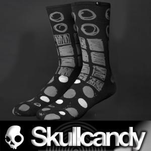 Skullcandy:Limited Socks 2019 Oct Fearless Black スカルキャンディー メンズ ソックス/郵便送料無料|zenithgaragesurfplus