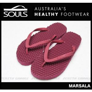 SOULS マッサージビーチサンダル:MARSALA 凸凹が気持ちいい 通気性抜群 23cm〜29cm/郵便発送対応|zenithgaragesurfplus