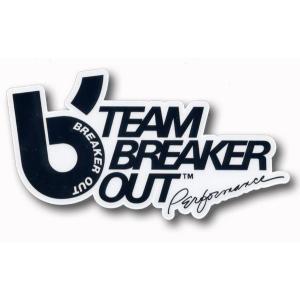 BREAKER OUT:ブレーカーアウト ウエットスーツ TEAMロゴステッカー/郵便発送対応|zenithgaragesurfplus