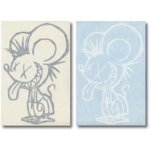 PUNK MOUSE PANTS:真木蔵人プロデュース パンクマウス カットステッカー Lサイズ/郵便発送対応|zenithgaragesurfplus