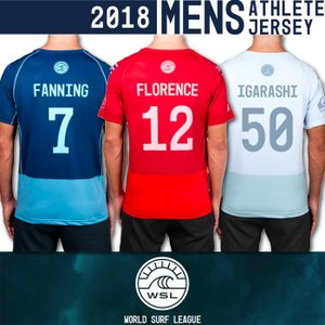 ■予約販売■WSL ワールドサーフリーグ:2018 メンズ CT選手の背番号入りアスリートジャージ (ラッシュガードTシャツ)/WSL公認正規品|zenithgaragesurfplus
