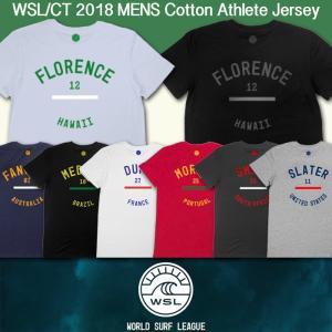 ■予約販売■WSL ワールドサーフリーグ:2018 メンズ CT選手のアスリート Tシャツ (コットン)/WSL公認正規品|zenithgaragesurfplus