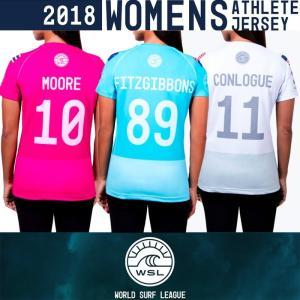 ■予約販売■WSL ワールドサーフリーグ:2018 レディース CT選手の背番号入りアスリートジャージ (ラッシュガードTシャツ)/WSL公認正規品|zenithgaragesurfplus