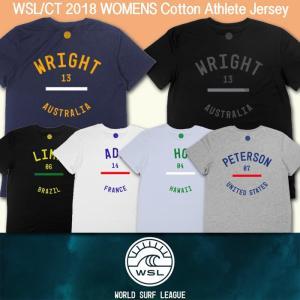 ■予約販売■WSL ワールドサーフリーグ:2018 レディース CT選手のアスリート Tシャツ (コットン)/WSL公認正規品|zenithgaragesurfplus