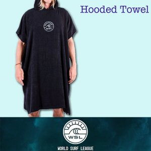 ■WSL ワールドサーフリーグ■着替え用 ポンチョ hooded Towel フリーサイズ/WSL公認正規品|zenithgaragesurfplus