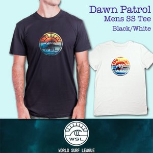 ■予約販売■WSL ワールドサーフリーグ:DAWN PATROL メンズ Tシャツ/WSL公認正規品|zenithgaragesurfplus