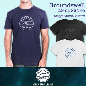 ■予約販売■WSL ワールドサーフリーグ:GROUND SWELL メンズ Tシャツ/WSL公認正規品|zenithgaragesurfplus