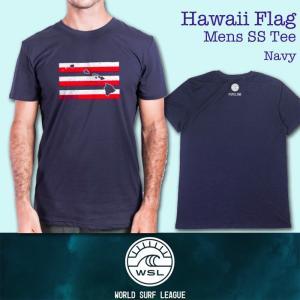 ■予約販売■WSL ワールドサーフリーグ:HAWAII FLAG メンズ Tシャツ/WSL公認正規品|zenithgaragesurfplus