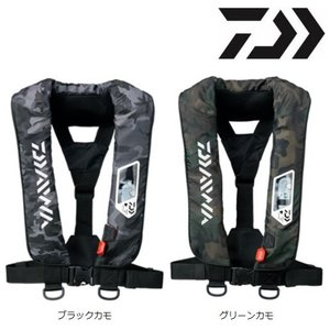 ダイワ ウォッシャブル ライフジャケット(肩掛けタイプ手動・自動膨脹式)DF-2007 カモ|zeniya-tsurigu