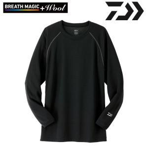 ダイワ 防寒 ブレスマジック ウール クルーネックシャツ(厚手)DU-3507S|zeniya-tsurigu
