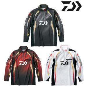 ダイワ スペシャル アイスドライ ジップアップ長袖メッシュシャツ DE-70009 /2XL/3XL 鮎 ウェア|zeniya-tsurigu