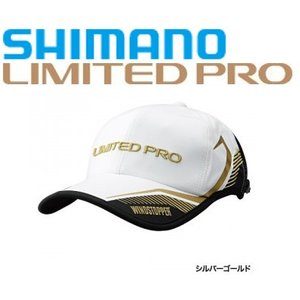 シマノ 帽子 ウィンドストッパーハーフメッシュキャップ・リミテッドプロ  CA-022P / シルバーゴールド|zeniya-tsurigu