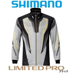 シマノ シャツ WT-℃・フルジップリミテッドプロシャツ  SH-011P /M/L/XL ブラック 鮎|zeniya-tsurigu