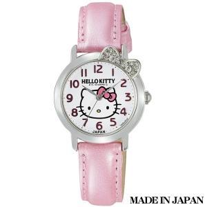 ハローキティ HELLO KITTY 子供用腕時計 キッズ腕時計キャラクターウォッチ 0001N001 MADE IN JAPAN (日本製)|zennsannnet
