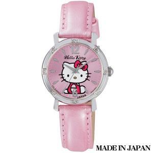 ハローキティ HELLO KITTY 子供用腕時計 キッズ腕時計キャラクターウォッチ 0003N001 MADE IN JAPAN (日本製)|zennsannnet