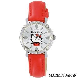 ハローキティ HELLO KITTY 子供用腕時計 キッズ腕時計キャラクターウォッチ 0003N003 MADE IN JAPAN (日本製)|zennsannnet