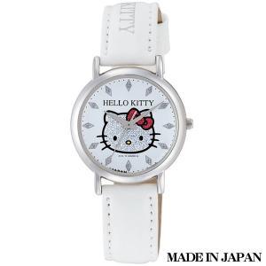 ハローキティ HELLO KITTY 子供用腕時計 キッズ腕時計キャラクターウォッチ 0009N001 MADE IN JAPAN (日本製)|zennsannnet