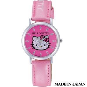 ハローキティ HELLO KITTY 子供用腕時計 キッズ腕時計キャラクターウォッチ 0009N002 MADE IN JAPAN (日本製)|zennsannnet