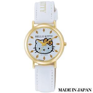 ハローキティ HELLO KITTY 子供用腕時計 キッズ腕時計キャラクターウォッチ 0009N003 MADE IN JAPAN (日本製)|zennsannnet