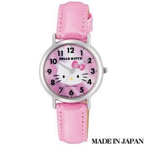 ハローキティ HELLO KITTY 子供用腕時計 キッズ腕時計キャラクターウォッチ 0017N001 MADE IN JAPAN (日本製)|zennsannnet