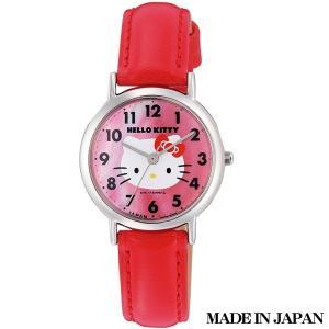 ハローキティ HELLO KITTY 子供用腕時計 キッズ腕時計キャラクターウォッチ 0017N002 MADE IN JAPAN (日本製)|zennsannnet