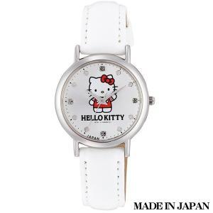 ハローキティ HELLO KITTY 子供用腕時計 キッズ腕時計キャラクターウォッチ 0017N004 MADE IN JAPAN (日本製)|zennsannnet