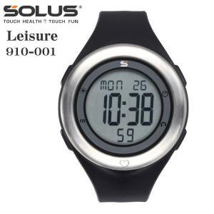 心拍計測 ランニングウォッチ 腕時計 ソーラス SOLUS メンズ腕時計 Leisure 910-001 ブラック zennsannnet