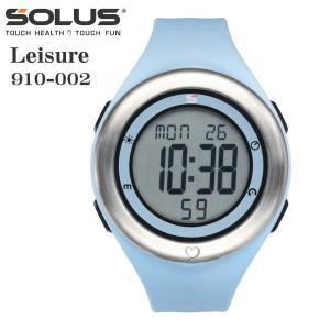 心拍計測 ランニングウォッチ 腕時計 ソーラス SOLUS メンズ腕時計 Leisure 910-002 ブルー zennsannnet