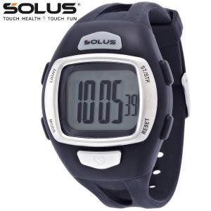 ランニングウオッチ 心拍計測 プッシュボタン式 腕時計 ソーラス SOLUS メンズ腕時計 Leisure 930-001 ブラック ギフト プレゼント zennsannnet