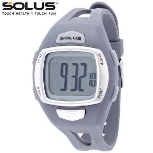 ランニングウオッチ 心拍計測 プッシュボタン式 腕時計 ソーラス SOLUS メンズ腕時計 Leisure 930-003 グレー ギフト プレゼン zennsannnet