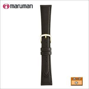 マルマン 紳士皮革バンド カーフ 黒 ステッチ入り 時計際幅 20mm 美錠幅 14mm  DM便利用で送料無料(代引き不可)|zennsannnet