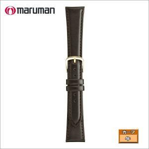マルマン 紳士皮革バンド カーフ 濃茶 ステッチ入り 時計際幅 19mm 美錠幅 14mm  DM便利用で送料無料(代引き不可)|zennsannnet