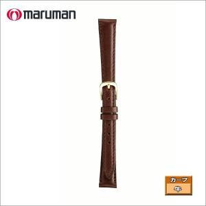 マルマン 婦人皮革バンド カーフ 濃茶 ステッチ入り 時計際幅 14mm 美錠幅 12mm  DM便利用で送料無料(代引き不可)|zennsannnet