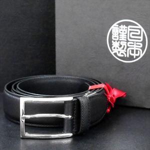 日本謹製メンズベルト 牛革プリズム柄型押し ブラック 135103-10 ギフト プレゼント|zennsannnet