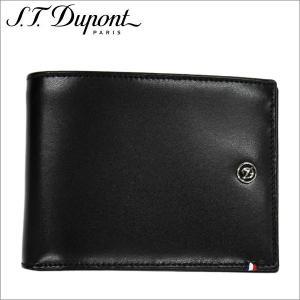 st.Dupont エス・テー・デュポン2つ折り財布 ブラック Dライン SLG PORTE BILLETS 6CC PIE BL zennsannnet