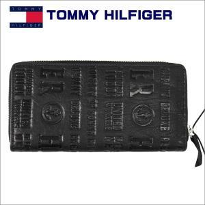トミーフィルフィガー メンズ財布 ラウンドジップ 長財布 ブラック TOMMY HILFIGER Eastborne 31TL13x026BK|zennsannnet