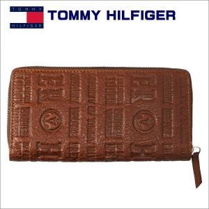 トミーフィルフィガー メンズ財布 ラウンドジップ 長財布 ブラウン TOMMY HILFIGER Eastborne 31TL13x026TAN|zennsannnet