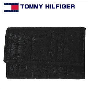 トミー・フィルフィガーTOMMY HILFIGER 6連キーケース ブラック 31TL17x016BK|zennsannnet