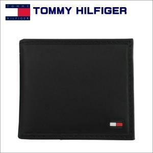 トミー・フィルフィガー 2つ折れ財布 ブラック TOMMY HILFIGER Highland 31TL25x014|zennsannnet